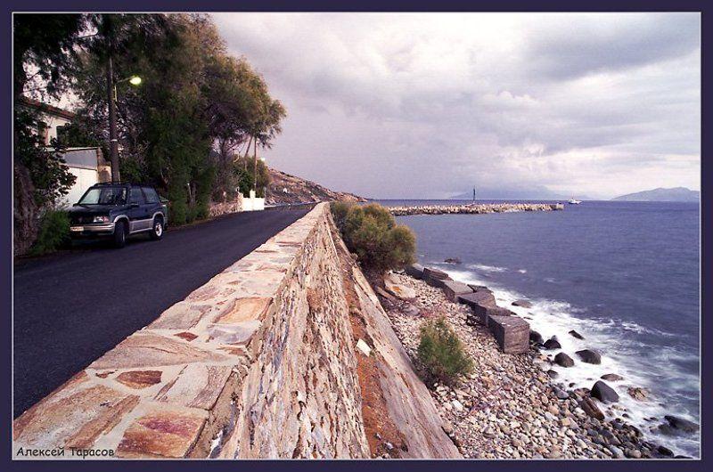 греция, икария, море, набережная, перспектива О перспективе...photo preview