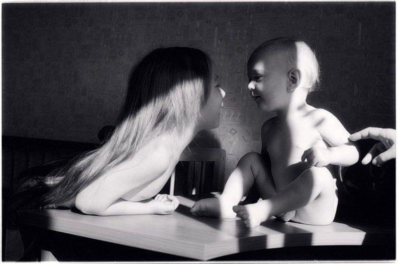 девочка, мальчик, солнце, 0253-21 Полосатые солнечные ванны для головастиковphoto preview