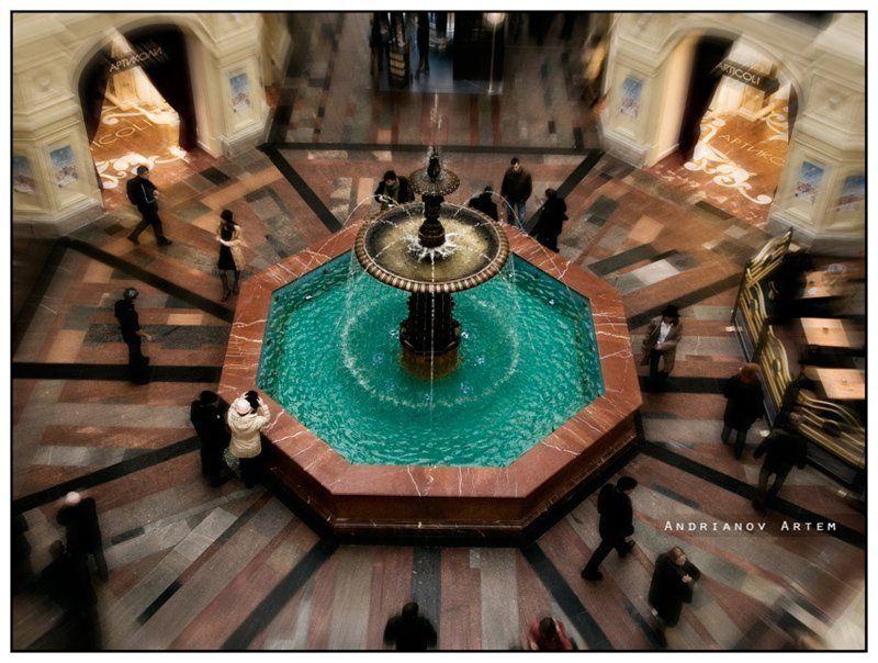 гум,москва,фонтан Встретимся у фонтана...photo preview