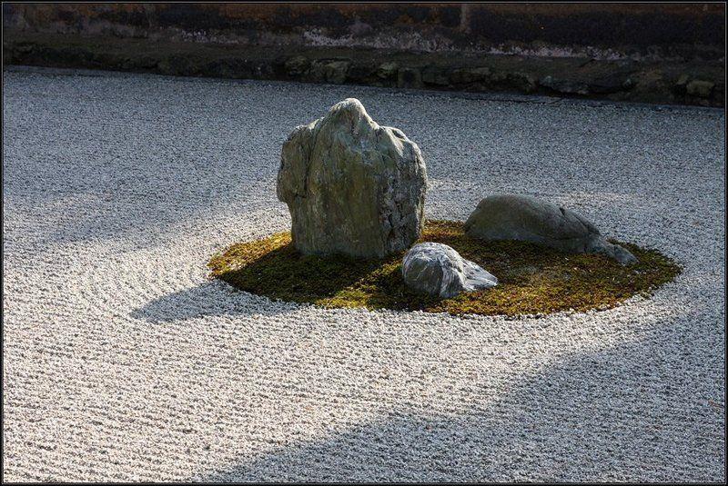 япония, сад камней рёандзи, киото Сад камней Рёандзиphoto preview