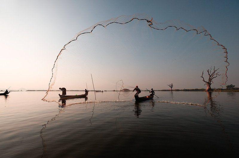 бирма Ловля рыбы по - бирманскиphoto preview