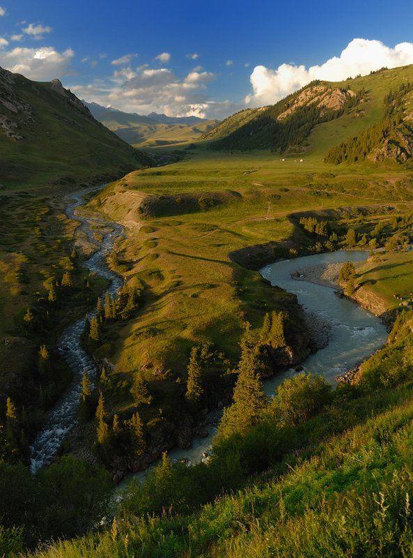 киргизия, горы, реки, ат-баши Ат-Башиphoto preview