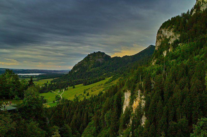 бавария, альпы Альпийский пейзажphoto preview