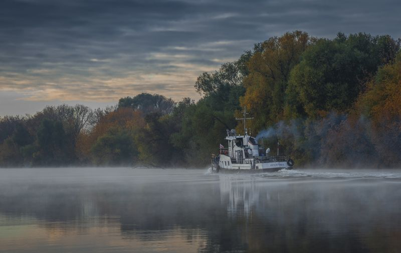 утро, рассвет, природа, туман, река Путейскийphoto preview