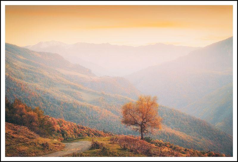 Осенний Архыз на закатеphoto preview