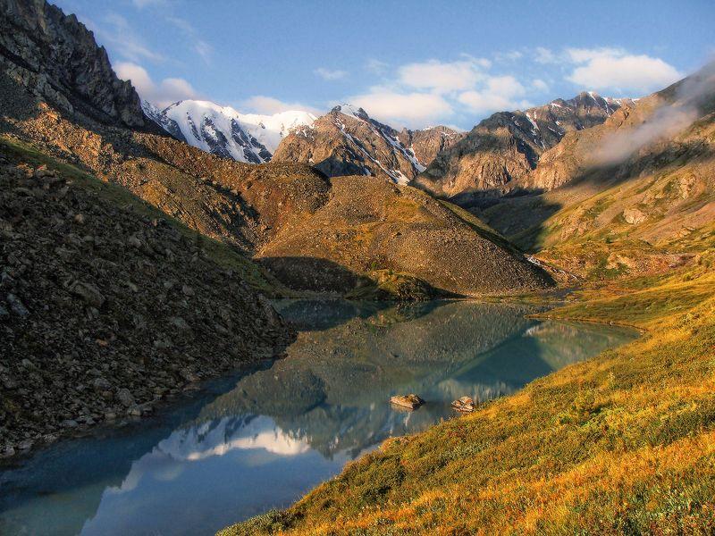 алтай, горный алтай, горы, сибирь, каракабакские озёра Горное озероphoto preview