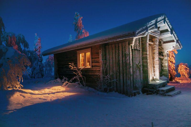 пейзаж, природа, зима, домик,  Лесной приютphoto preview