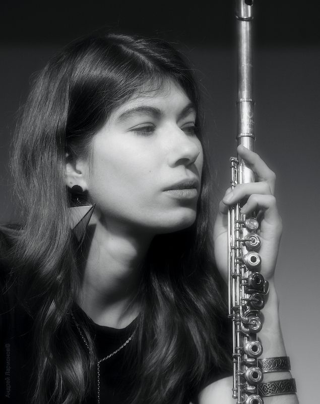 девушка, портрет, флейта, музыкант Flute passionphoto preview