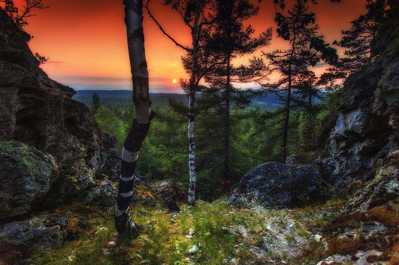 Тихий в вечер в Синих скалахphoto preview