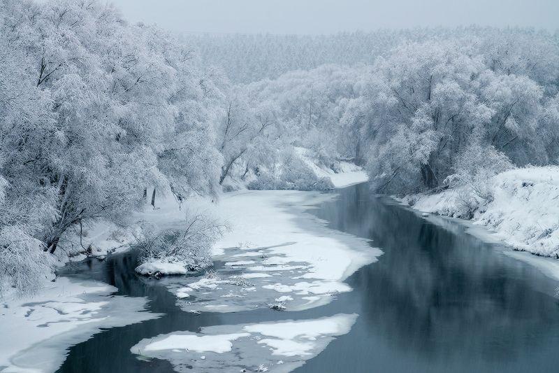 калужская обл, обнинск под снежной вуальюphoto preview