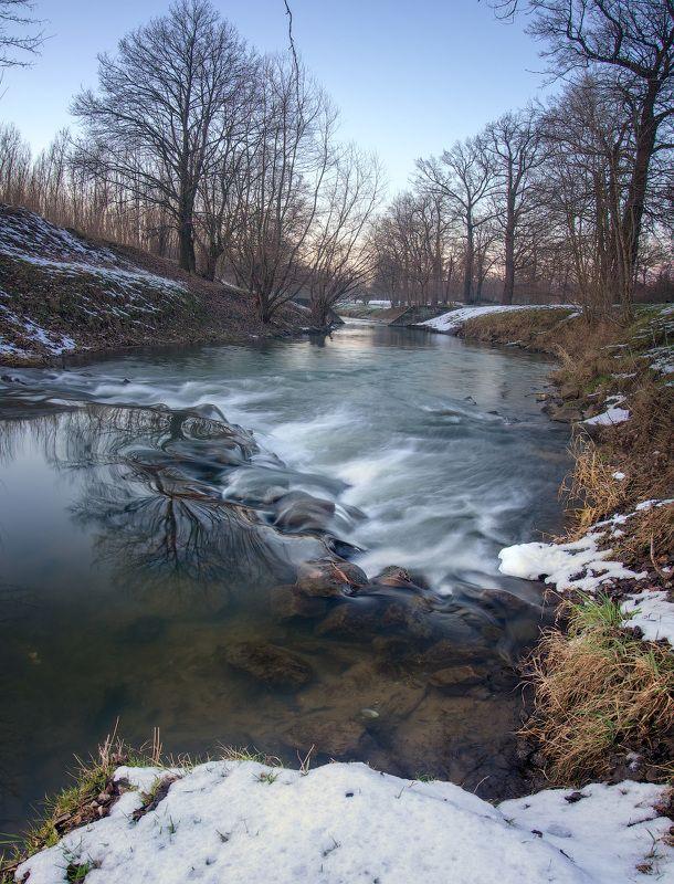 река, вечер, river, evening, poland, olympus, wroclaw Вечер на рекеphoto preview