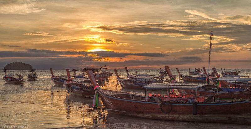 пейзаж, природа, облака, путешествия, travel, wildlife, nature, sky, clouds, landscape, море, океан, sea, ocean, thai, таиланд Рассветы на островеphoto preview
