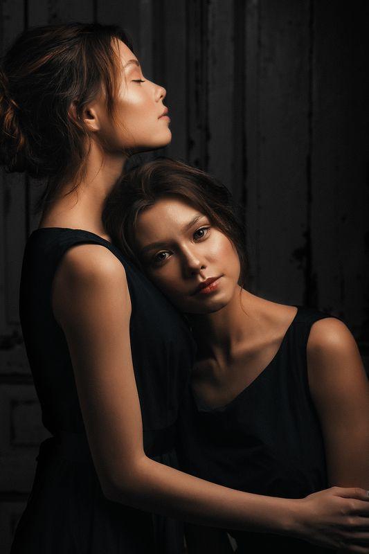 близняшки, девушки, девушка, портрет, близнецы, женский портрет, twins Мила и Оляphoto preview