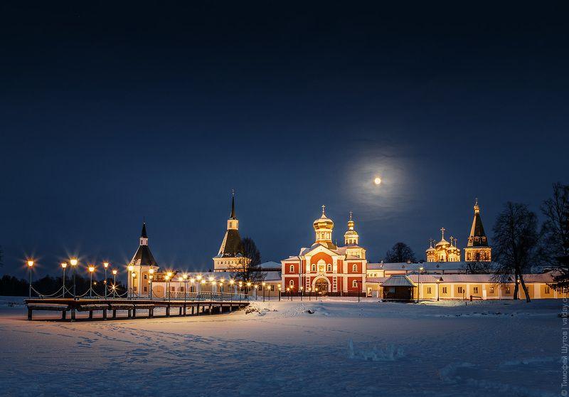 иверский монастырь, валдай Полнолунная ночьphoto preview