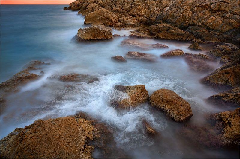 закат, зима, скалы, море, пейзаж Погружаясь в дрёмуphoto preview