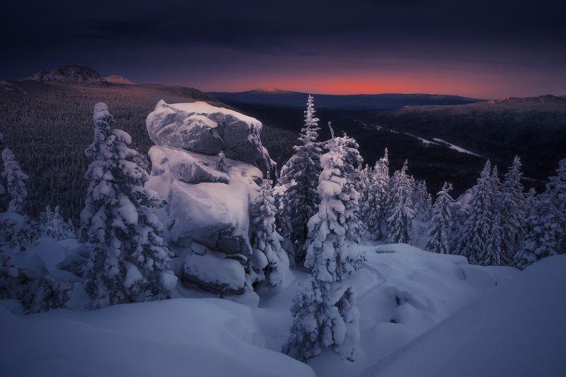 урал, таганай, зима На склонах Двуглавой сопкиphoto preview