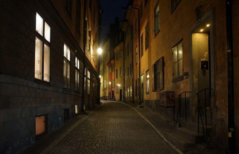 city, evening, street, lantern, house, facade, door, window Evening on old street...photo preview