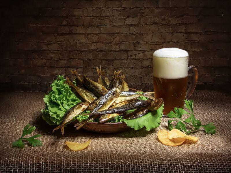 натюрморт, пиво, ставридка Со ставридкой...photo preview