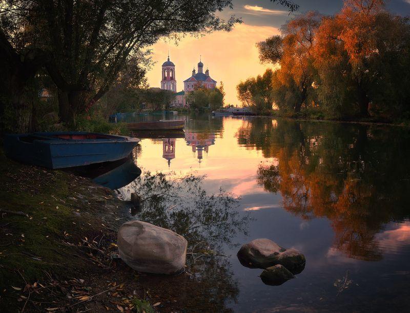 лес, природа, пейзаж, осень, река, вода, ручей, подмосковье Переславль Залесскийphoto preview