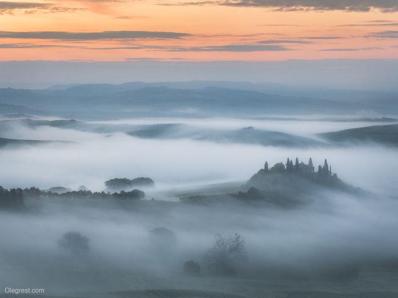 туман тоскана италия вилла Туманphoto preview