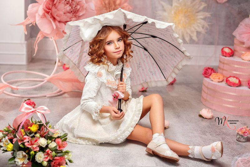 портрет, девочка, куколка, студия, цвет, романтика, детский, дети, мода, стиль, арт, художественный Куколкаphoto preview