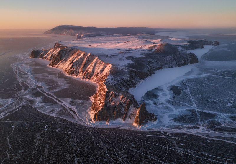 байкал, ольхон Байкал с высоты птичьего полета.photo preview