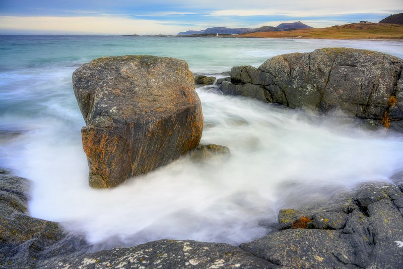 landscape, Norway, Seascape, Windy Stone in the seaphoto preview