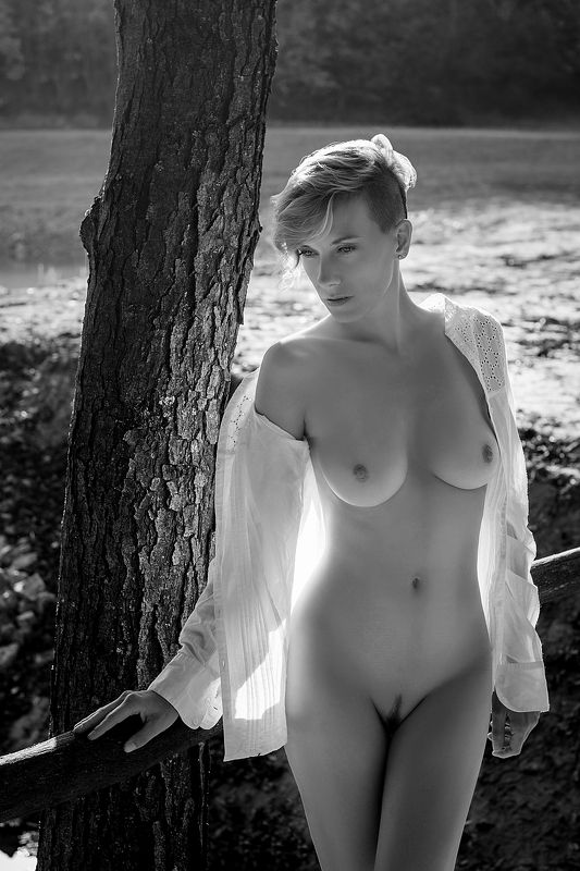 model, nude, naked, glamour, woman, female, black and white, body, sexy, sensual, natural light, curves, portrait, erotica, fine art, nature, fashion nude, fine nude, Autumn 2photo preview