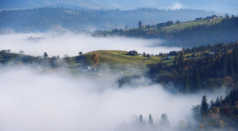горы, осень, туман Ясиня.photo preview