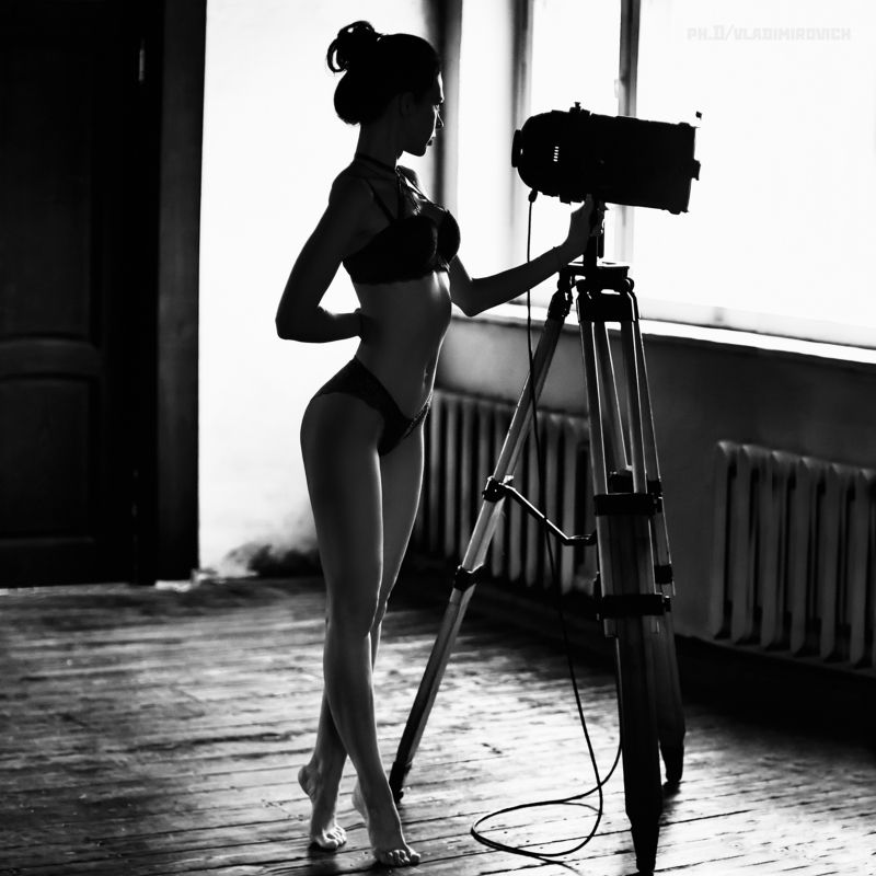 девушка, студия, портрет, fujifilm, zenitar, 50mm, black and white,чб Без названияphoto preview