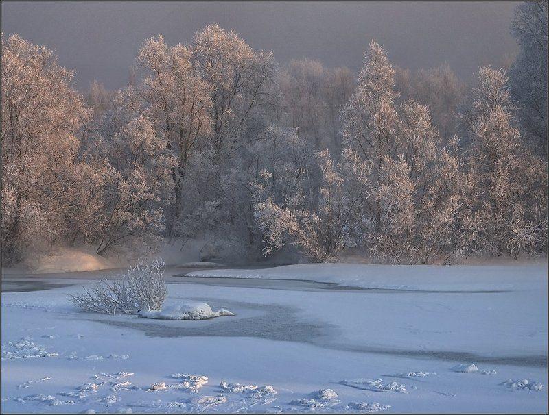 мороз, ульба Морозный рассветphoto preview
