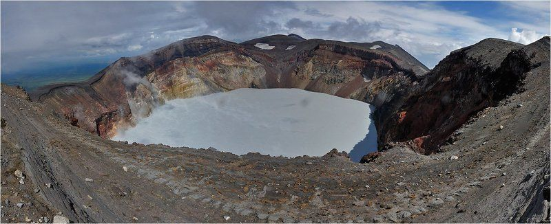 камчатка, вулкан, малый, семячик Жерло вулкана Семячикphoto preview