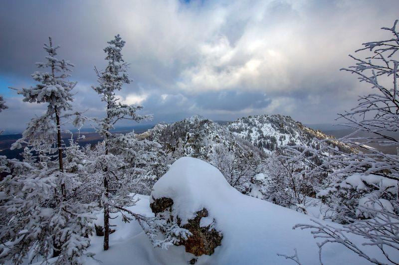 зима, таганай, горы. В горахphoto preview