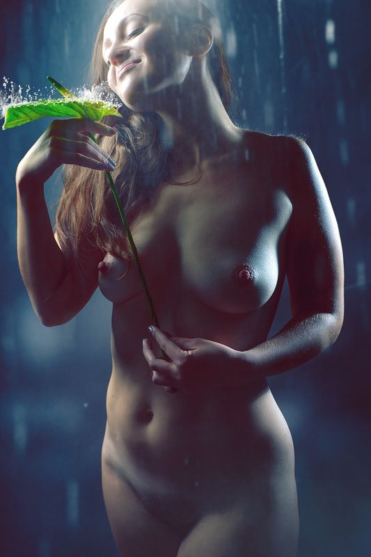 nude, female, body, portrait, mood, tenderness, sensual, sensuality, portrait, feminine, rain, weather, water, life, lifestyle, healthy, freshness Rainy Dreamsphoto preview