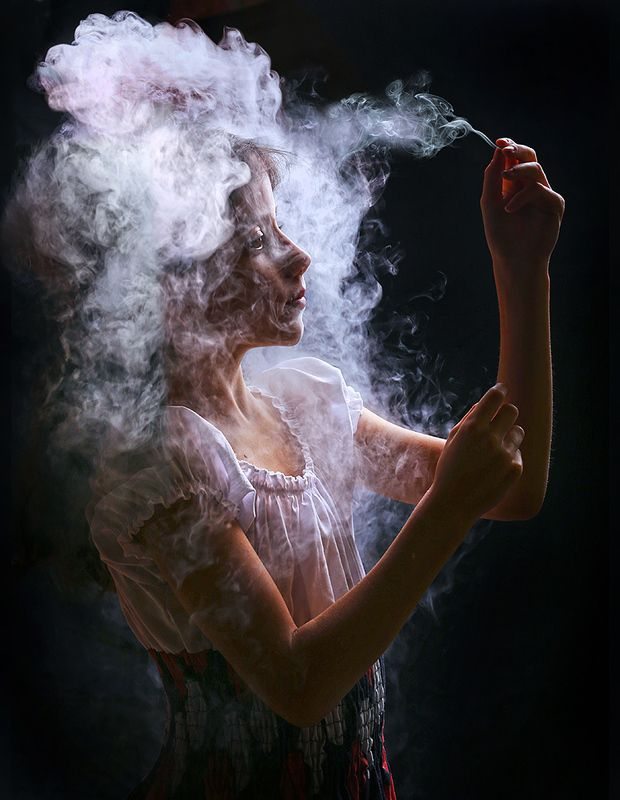 Painting with smoke.photo preview