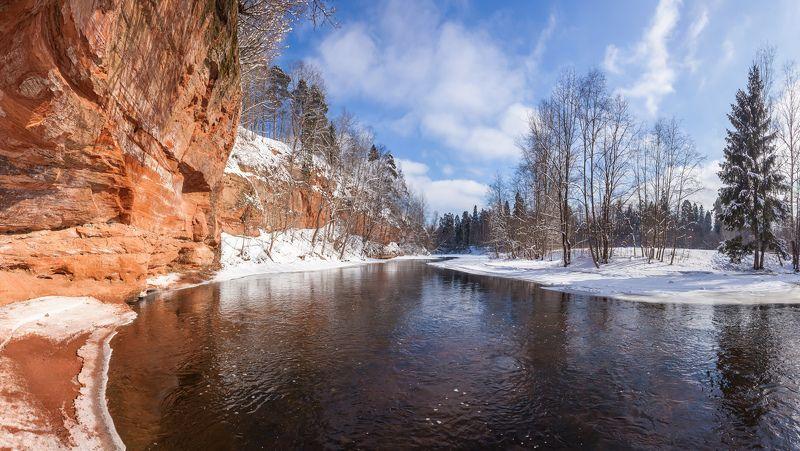 пейзажи ленинградской области, гатчинский район, оредеж, сиверский, зима в ленинградской области, март, красные скалы \