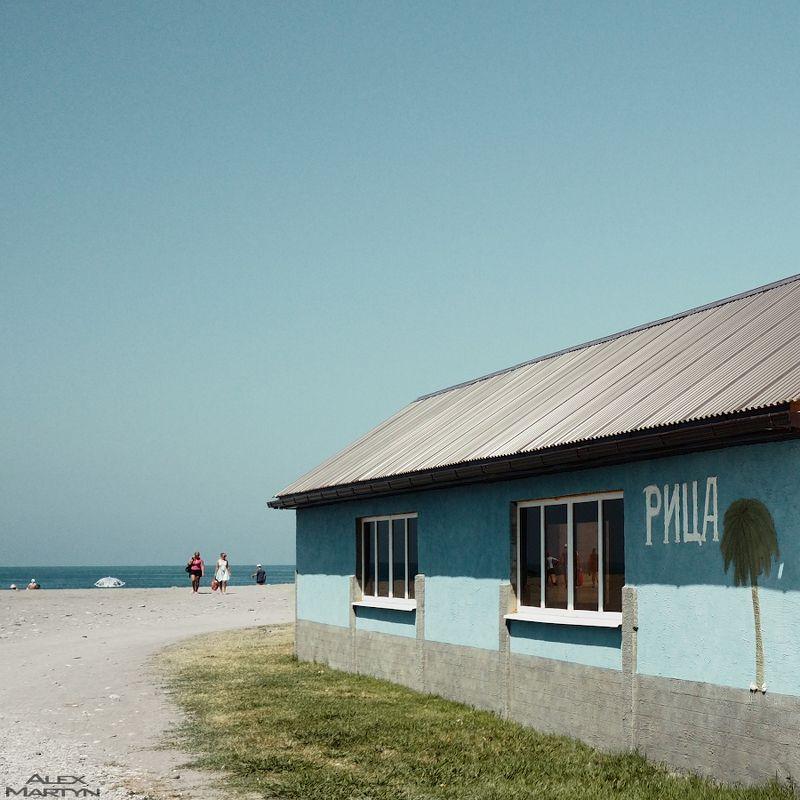 абхазия, море, пляж, цвет, песок, дом ***photo preview