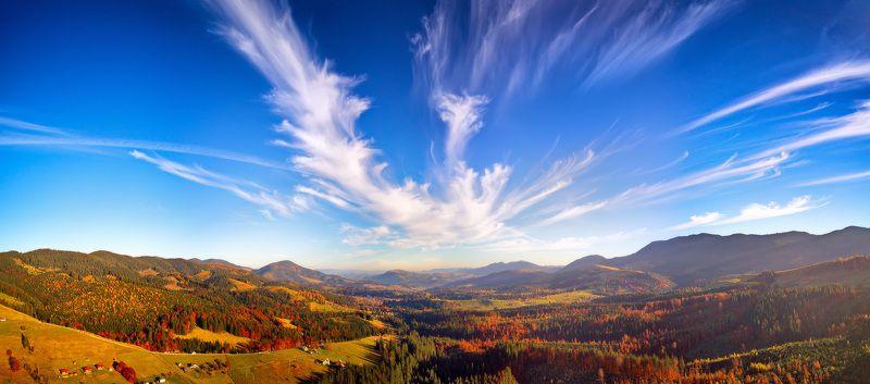 вечер, горы, закат, карпаты, октябрь, осень Вечер по дороге в Верховинуphoto preview