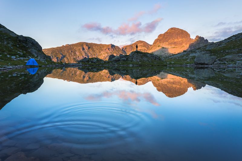 bulgaria, rila, lake, tent, summer, sunset Alone in the wildphoto preview