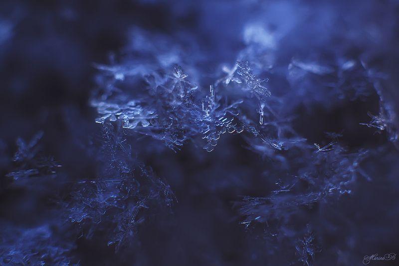 зима, снег, лёд, снежинки, кристаллы Зимние текстуры или Царство кристалловphoto preview