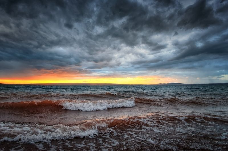 Закат на оз.Беле / Хакасияphoto preview