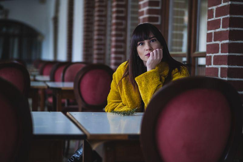 Портрет с красными стульямиphoto preview