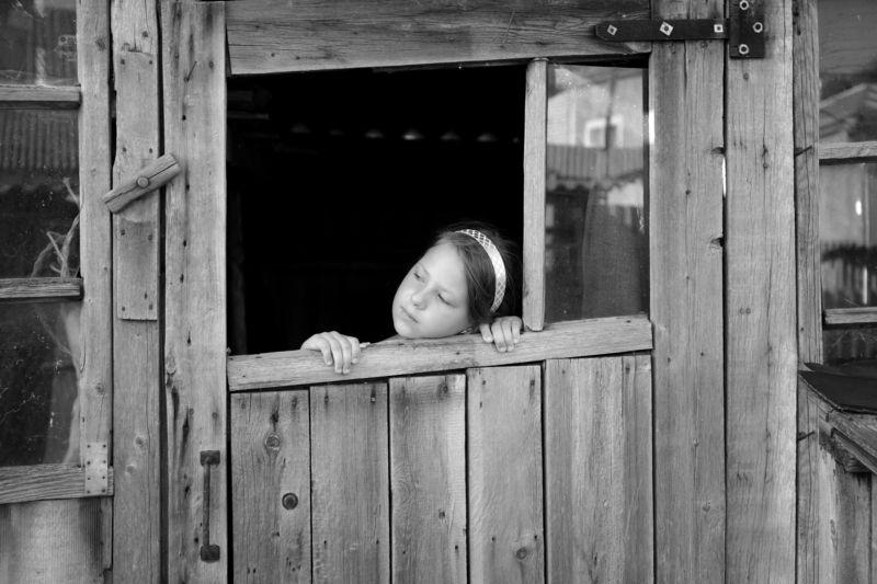 деревня жанровое фото черно белое Вера Шамраева Серия Когда уехали друзья...photo preview