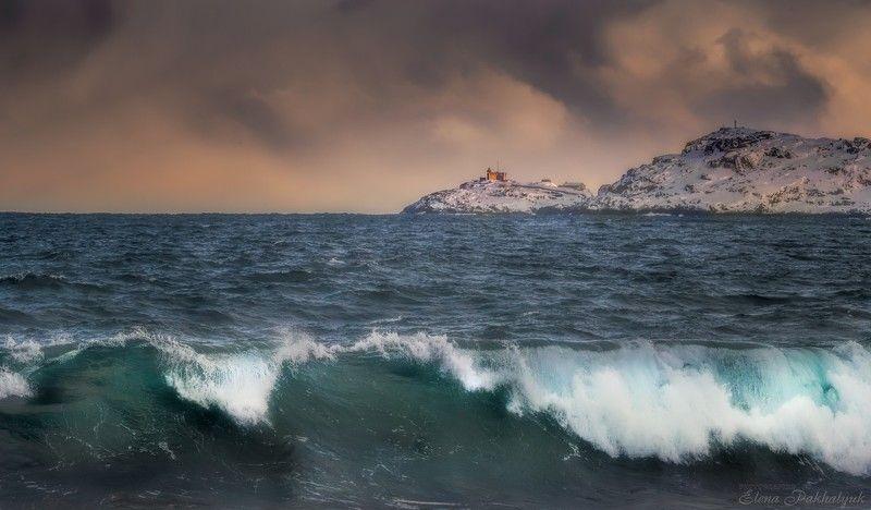 териберка,россия,кольский,пейзаж,фототур,закат,зима,солнце,облака,розовый,природа,море,океан,побережье,шторм Перед штормом на Баренцевомphoto preview