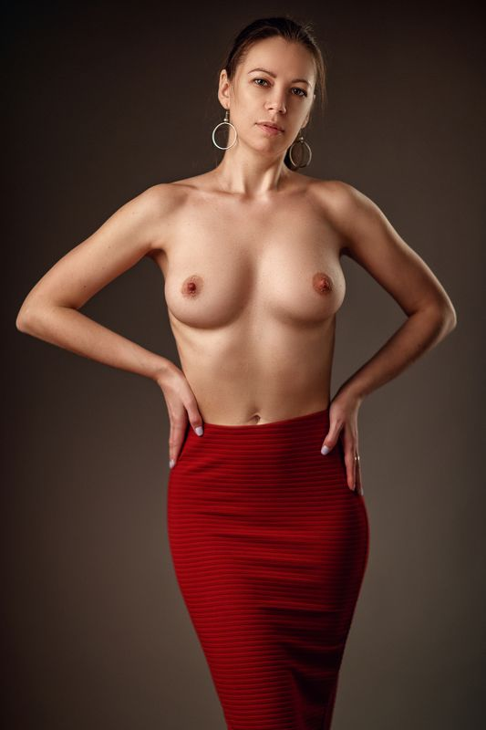 Nude, girl, body Lady in redphoto preview