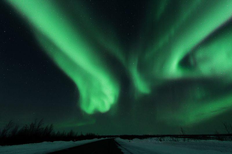 ямал, салехард , сияние ,ямал ,янао, пейзаж, природа ,полярный урал ,аврора Лисьи огни photo preview
