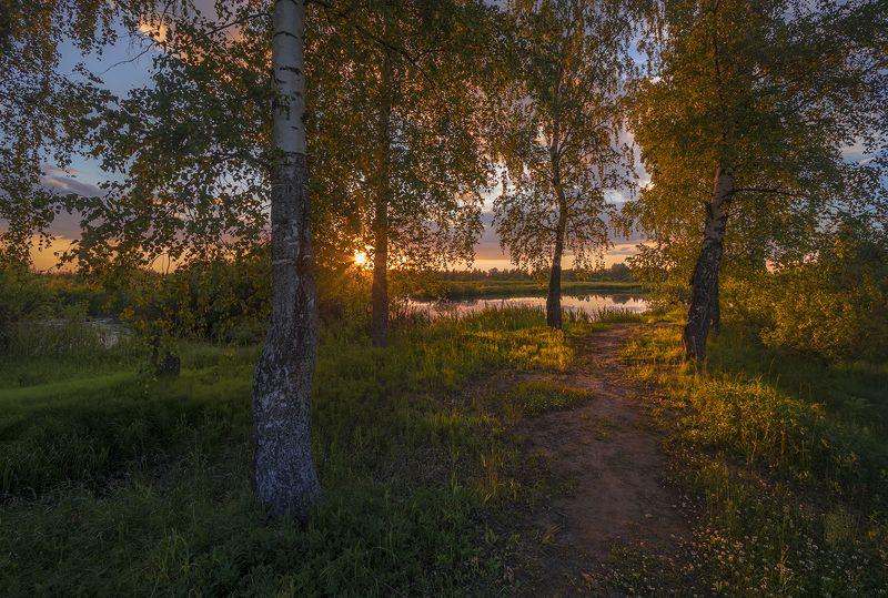 пейзаж,озеро,вечер Летоphoto preview