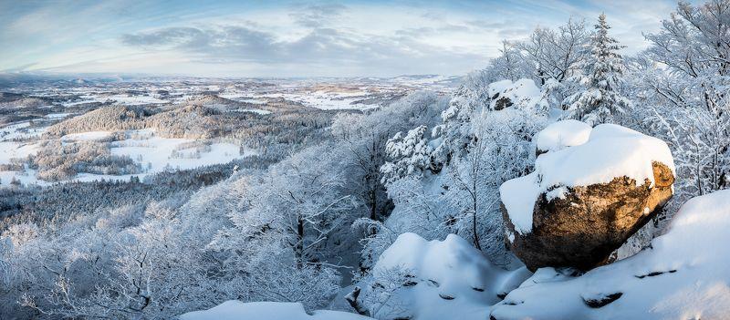 poland, sunrise, landscape, rudawy, karkonosze, sudety, morning, winter Winter sunrisephoto preview