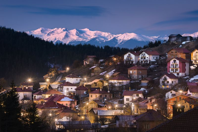 rhodope mountain, blue hour, bulgaria, pirin When the roosters singphoto preview