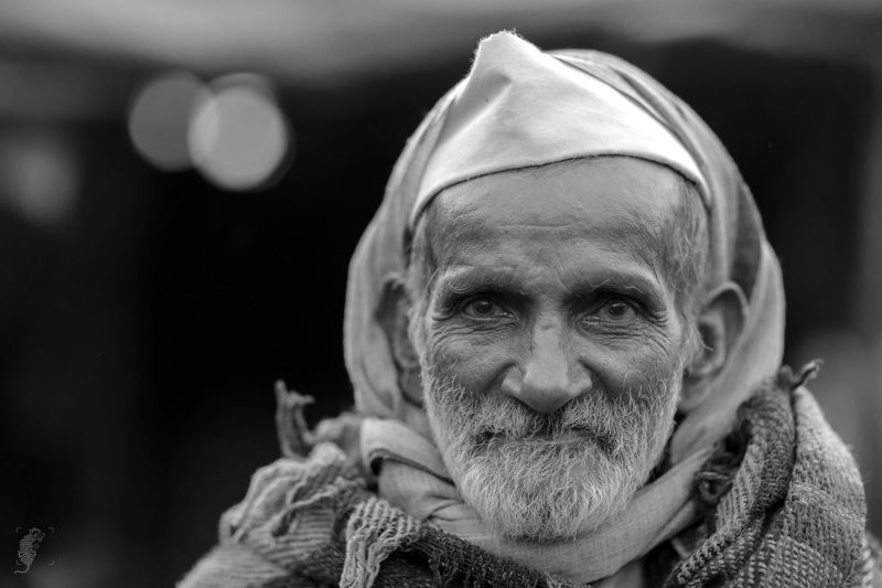 India, Portrait, Candid, 85mm, Monochrome Old Man 2photo preview